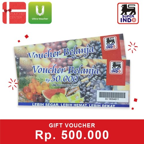 Foto Produk Voucher Superindo Rp 500.000 dari Ultra Voucher