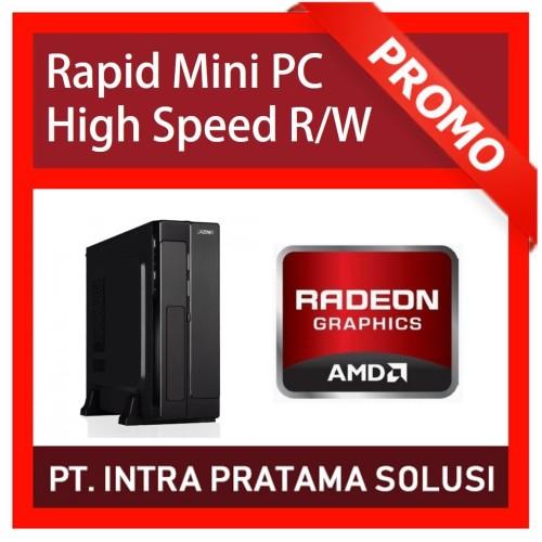 "Foto Produk Mini PC + LED 19"" (Quad Core A10-4655 + Ram 4GB + SSD 120GB + HD7620) dari PT. Intra Pratama Solusi"