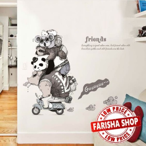 Foto Produk Animal Friends SK9235 - Stiker Dinding / Wall Sticker dari farisha shop