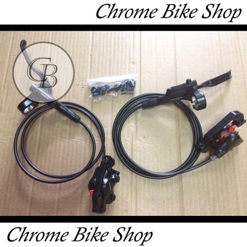 Foto Produk Brake Set Rem Hidrolik Rem Hidraulic Sepeda Shimano Altus MT200 dari Chrome Bike Shop