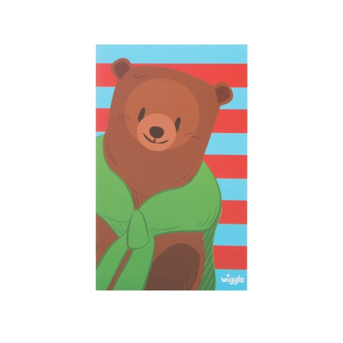 Foto Produk Wigglo Color Notebook Paper Bear Stripe Blue Red dari Wigglo Indonesia
