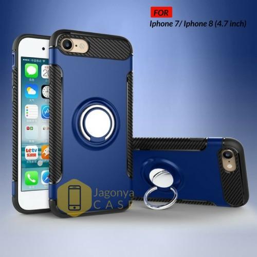 Foto Produk Case Iphone 7 / Iphone 8 Ultimate Carbon Ring Kickstand - Merah dari Jagonya Case