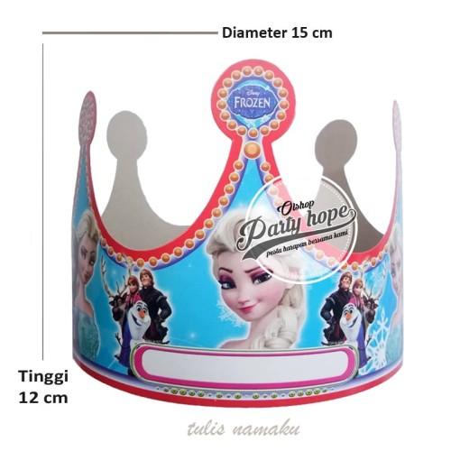 Foto Produk topi ultah frozen / topi lingkar namaku / topi ultah mahkota frozen dari PARTY HOPE 2