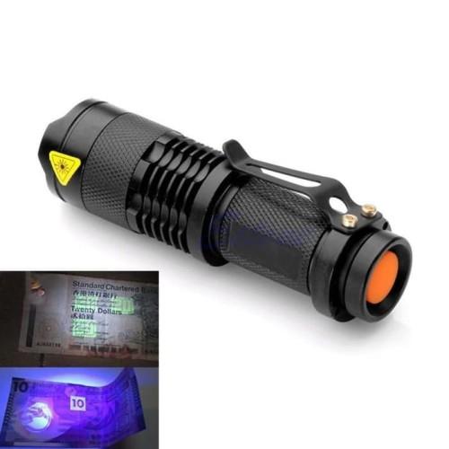 Foto Produk Senter LED UV 395nm Ultraviolet Q5 LED dari zona-murah