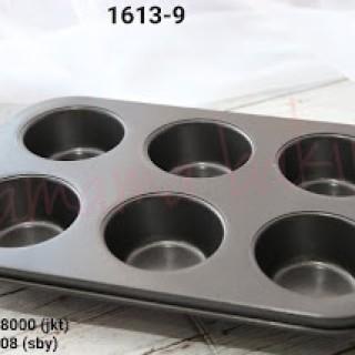 Foto Produk 1613-9 Loyang teflon cupcake muffin isi 6 anti lengket import dari Yamama Baking