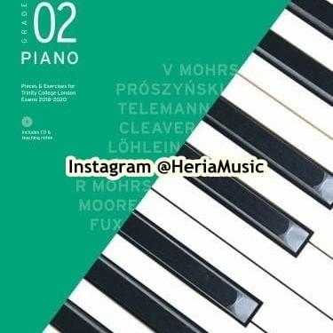 Foto Produk TRINITY Piano Grade 2 book and CD 2018-2020 dari HERIA MUSIC