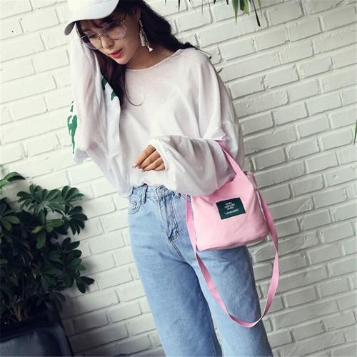 Foto Produk TC29 Korea Mini Single Solid Color Shoulder Bag / Tas Bahu Wanita Mini - Grey dari EnnWen Online Store