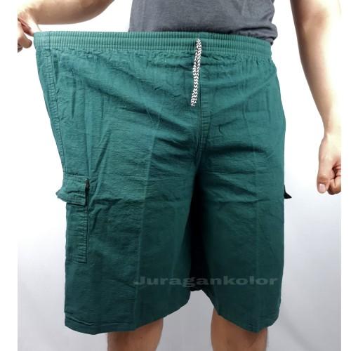 Foto Produk Celana Pendek Cargo Kanvas BIG SIZE JUMBO Polos -CK.JMB dari JuraganKolor