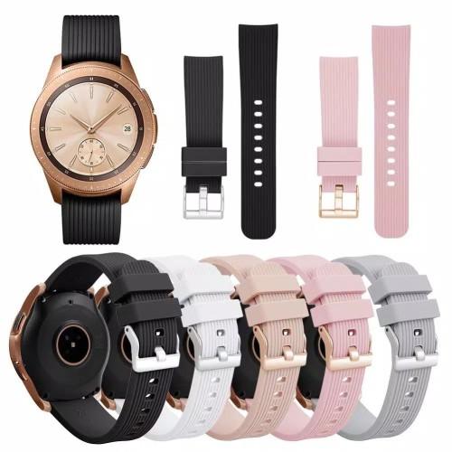 Foto Produk Strap Silicone Silikon Model Original Samsung Galaxy Watch 42mm Tali - Putih dari Logam Mulia Termurah