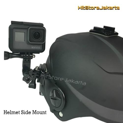 Foto Produk Mounting Helm Helmet Side Mount GoPro YI BPro Helmet Curved Mount dari HitStore_Jakarta