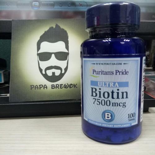 Foto Produk BIOTIN 7500 mcg 100 tablet dari Papa brewok