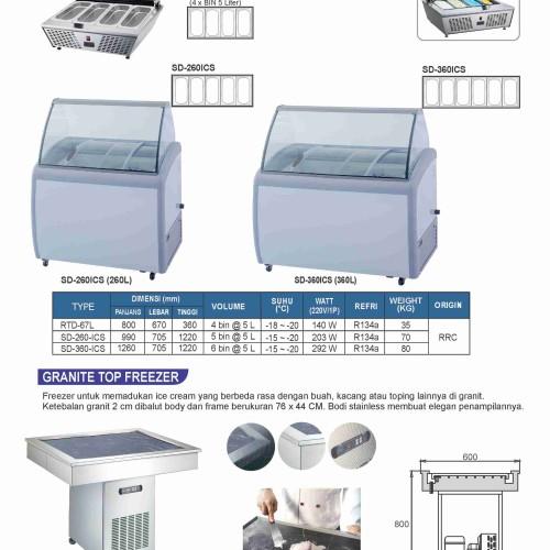 Foto Produk Gea - Granite Top Freezer ORTG9 dari elektropedia