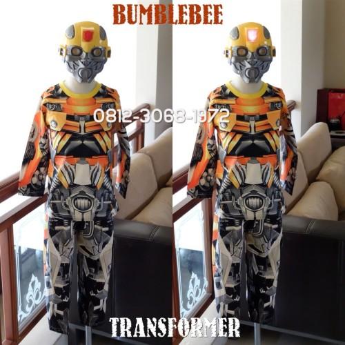 Foto Produk Baju Kostum Anak Karakter Superhero TRANSFORMER BUMBLEBEE 2-5 Tahun - Size 4 dari Bebagus