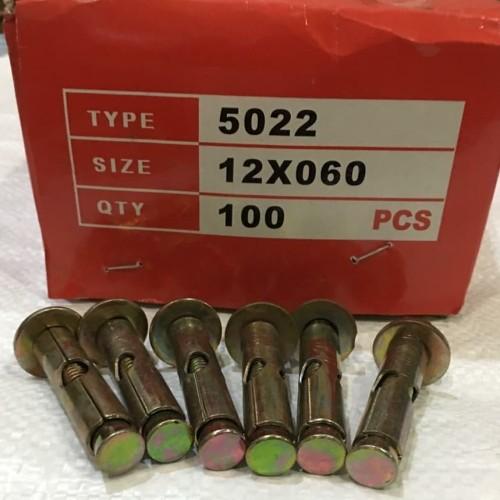 Foto Produk Dynabolt 12 x 60 / Dinabolt murah / Dynabolt bracket set / baut dari bumisariprismatama