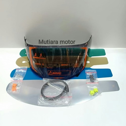 Foto Produk paket lengkap visor flat kyt rc7 kyt r10 kyt k2rider dari mutiara motor MD