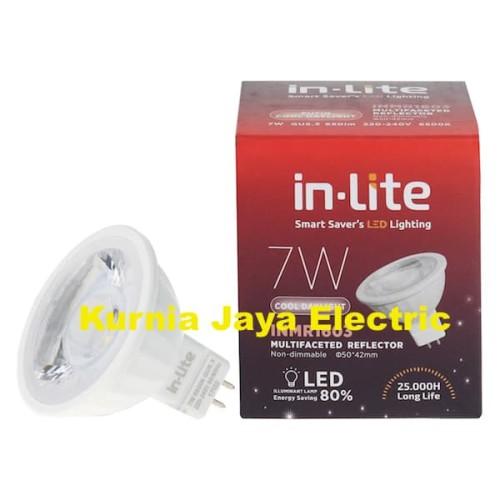 Foto Produk Lampu Led Inlite Mangkok COB MR16 7W White/Putih Tusuk 2Pin 220V dari Kurnia Jaya Electric