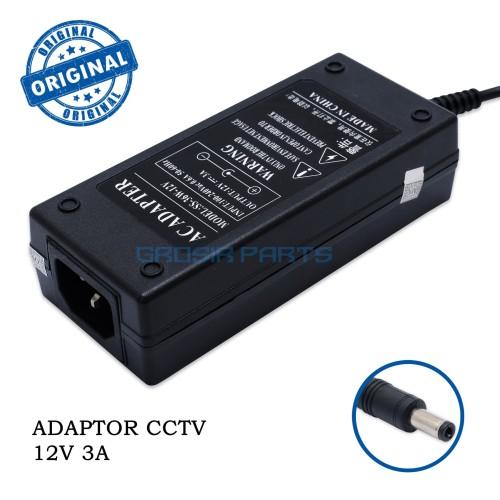 Foto Produk Adaptor 3A MURNI 12v | trafo | powersupply untuk kamera CCTV dari Grosir Part