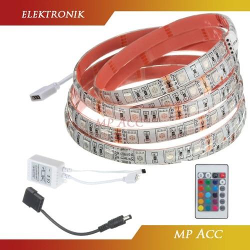 Foto Produk Led Strip Flexible Light 5050 RGB 16 Colors 2M Remote Control Interior dari aksesoris-iPhone
