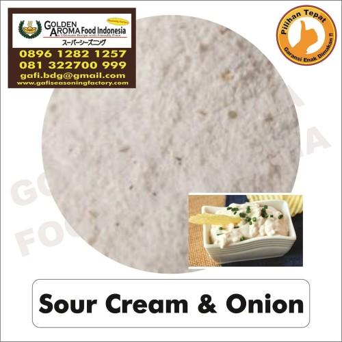 Foto Produk Bumbu Tabur Rasa Sour Cream & Onion 1Kg Bubuk Tabur Krim Asam Bawang dari Pensil hb Asli Merk 2