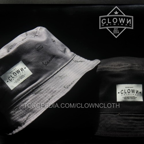 Foto Produk Topi Bucket Hat Vespa - Grey dari CLOWN CLOTH
