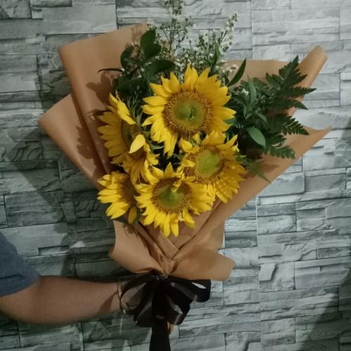 Foto Produk Bunga Wisuda / Buket Bunga / Bunga Matahari dari Freshcut Flower