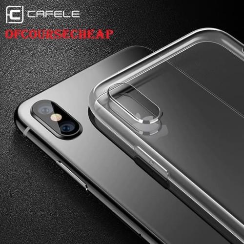 Foto Produk CAFELE CASE IPHONE XS XR XS MAX TRANSPARANT CLEAR TPU CASE ORIGINAL - iPhone X dari Of Course Cheap