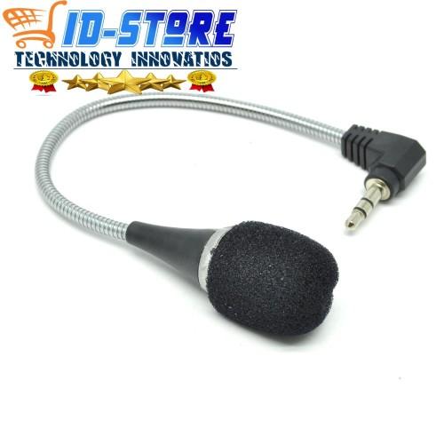 Foto Produk Mikrofon Mini Flexible 16cm - Hitam mik Laptop Pc dan smartphone dari ID Techno Digital