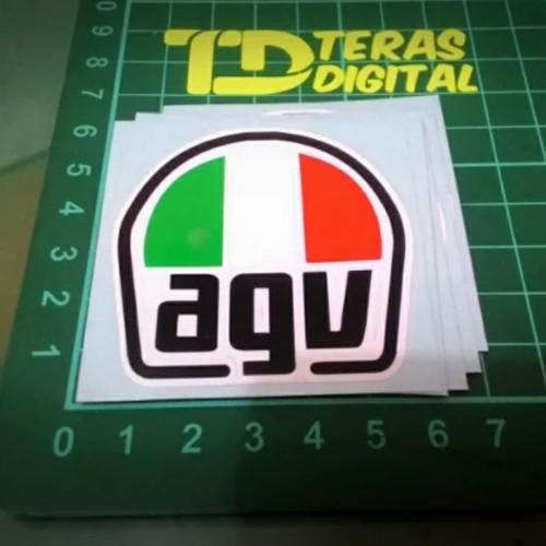 Foto Produk Cutting Sticker helm logo AGV italy 5cm dari Teras Digital
