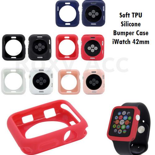 Foto Produk Softcase Casing Bumper Apple Watch 42mm Multicolour Silicone Case - Ungu dari Roxy Acc