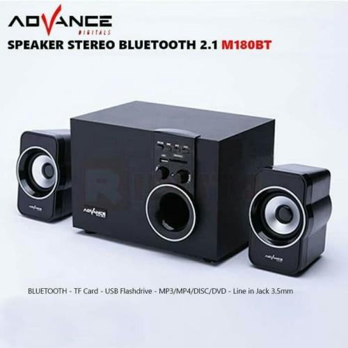 Foto Produk speaker advance aktif M180BT bluetooth subwoofer bass dari Raja PC