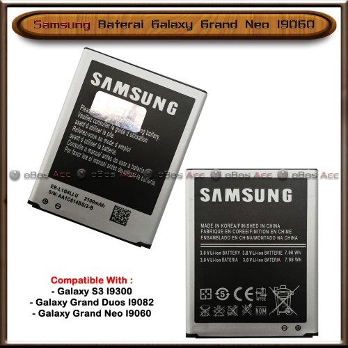 Foto Produk Baterai Samsung Galaxy Grand Neo I9060 Original Batre Batrai HP dari oBos Acc