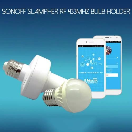 Foto Produk 🔴📶Sonoff Slampher RF433 Wi-Fi Smart Bulb Holder E27 dari innovtronic