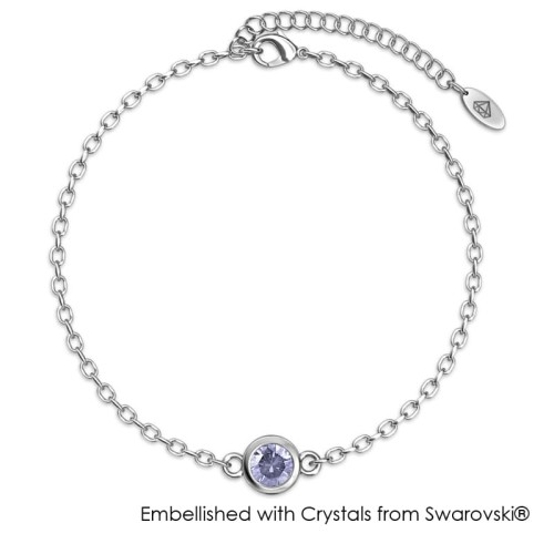 Foto Produk Her Jewellery Birth Stone Bracelet WG - Gelang Crystals Swarovski® - June dari Her Jewellery