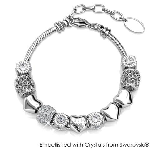 Foto Produk Her Jewellery Radiant Charm Bracelet - Gelang Crystals Swarovski® - White Gold dari Her Jewellery
