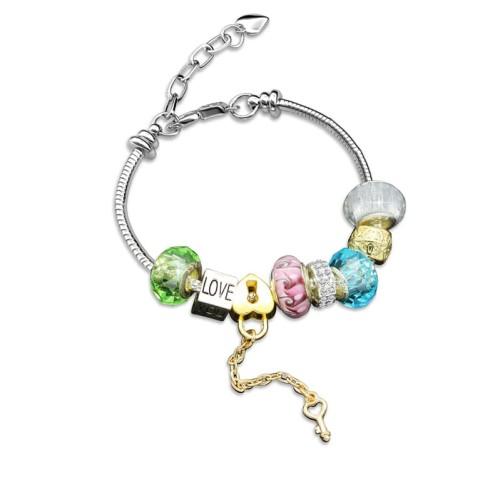 Foto Produk Colorful Charm Crystal Bracelet - Gelang Swarovski by Her Jewellery - Blue dari Her Jewellery
