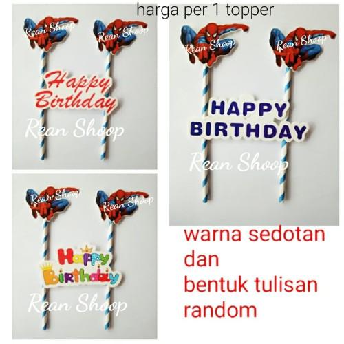 Foto Produk topper hiasan cake birthday kue ulang tahun karakter spiderman dari reanolshoop