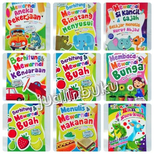 Foto Produk Buku Anak - Buku Mewarnai Membaca dan Menulis - ukuran A4 dari Jualin Buku