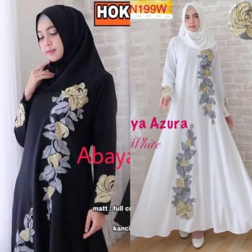 Foto Produk gamis abaya bordir azura - Hitam, S dari GrosirAbaya