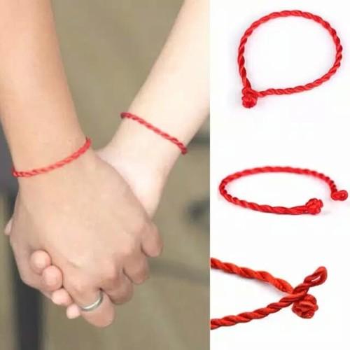 Foto Produk Gelang Jodoh Tali Merah Perfect Match 2mm - Hitam dari Jewels-Collection
