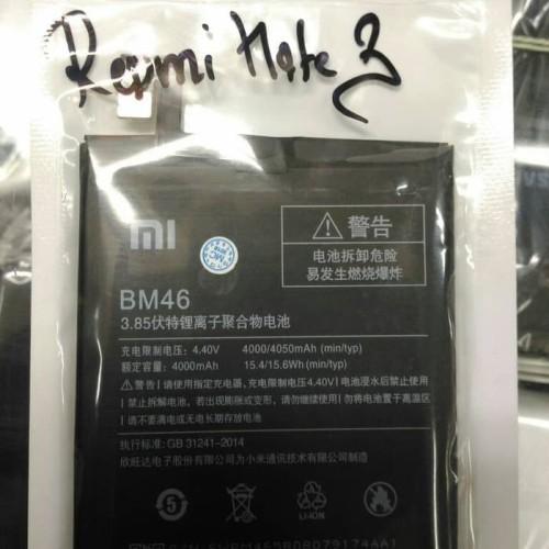 Foto Produk Original 100% Xiaomi Redmi Note 3 BM46 Baterai / Batre / Baterry dari spareparthp original