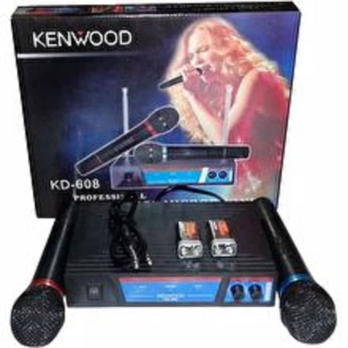 Foto Produk Kenwood KD 608 Mic Double Wireless UHF - Hitam NEW dari Blora Store Electrik