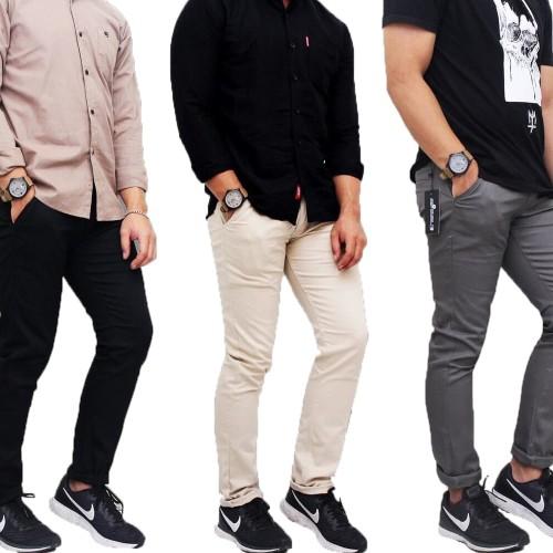 Foto Produk Celana Panjang Chino Pria Premium Quality / Celana Kerja Pria - Abu-abu, 27 dari Simpleclothes.id