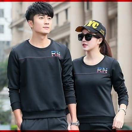 Foto Produk Couple kaos sweater SW RN HITAM dari ChocoGold