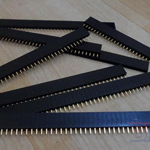 Foto Produk Dijual Pin Header 2.54mm Female-Male 40 Pin Single Row Strip G Diskon dari Nandi Sakha