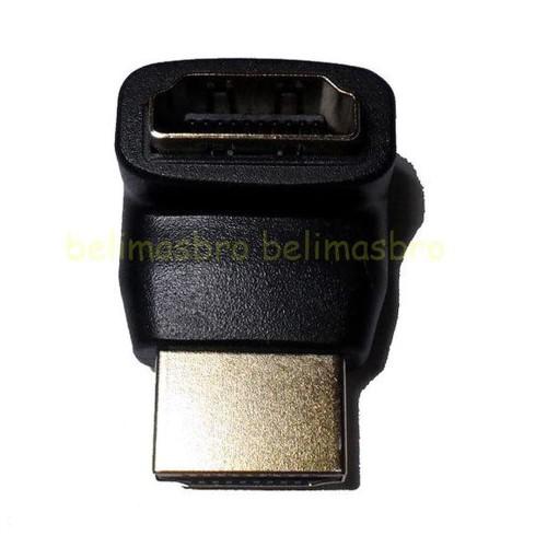 Foto Produk HDMI Siku 270 Derajat / Degree Male to Female Gender F Berkualitas dari Nandi Sakha