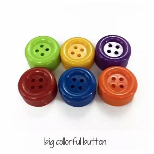 Foto Produk kancing jumbo / big collorful button / meronce kancing besar dari toystoys_edutoys
