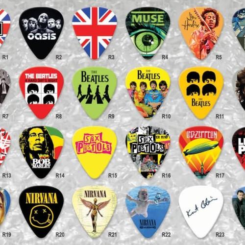 Foto Produk Pick Gitar Rock Band 0.46mm 0.71mm 1.0mm Plectrum Guitar Celluloid - 0.46 - 1.0mm dari Buy2fun