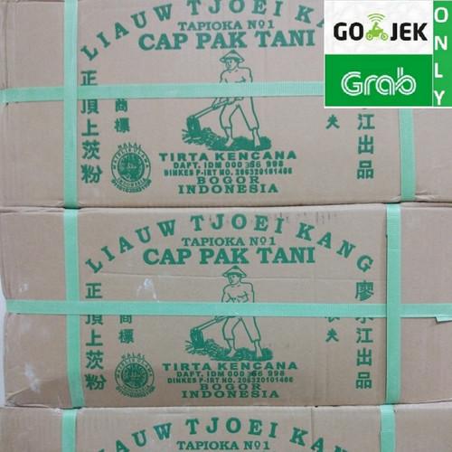 Foto Produk Sagu Cap Pak Tani Liauw Tjoei Kang / Tepung Tapioka 1 KARTON 25 KG dari Sinar Terang Regency