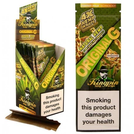 Foto Produk Jual Blunt Kingpin Hemp Wraps Original G +Tbk strawberry mint 3gr dari T.Dynamite
