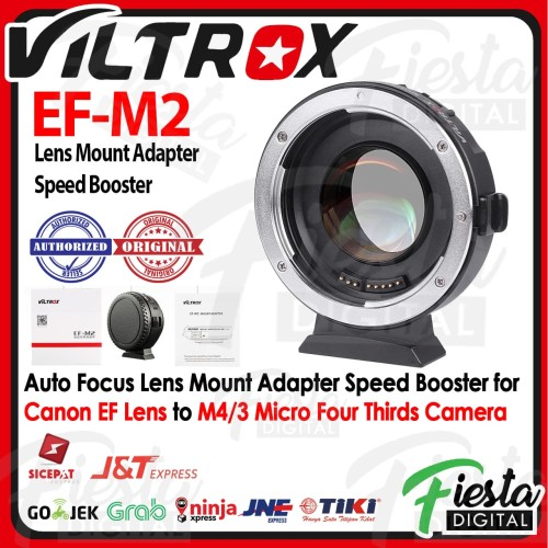 Foto Produk Viltrox EF-M2 Adapter Speed Booster for Canon EF Lens to M4/3 Camera dari Fiesta Digital